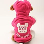 개 후드 레드 블랙 강아지 의류 겨울 모든계절/가을 만화 귀여운 캐쥬얼/데일리