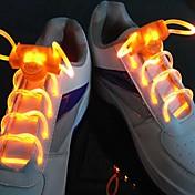 긴 밝은 플래시 느린 플래시 방수 LED 신발 끈 오렌지 (1 쌍)