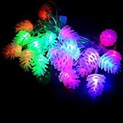 20-LED resistente al agua 4m decoración de navidad de pino luz rgb cono de luz LED de cadena (220v)