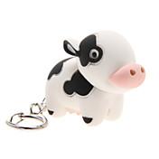 LED조명 / 키 체인 Cow 카툰 키 체인 / LED조명 / 사운드 아이보리 ABS