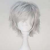 Pelucas de Cosplay Tokyo Ghoul Ken Kaneki Gris Corto / Corte Recto Animé Pelucas de Cosplay 32 CM Fibra resistente al calor Hombre