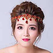 Mujer Aleación Zirconia Cúbica Celada-Boda Ocasión especial Cadena para la Cabeza