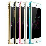 Para Funda iPhone 6 / Funda iPhone 6 Plus Ultrafina Funda Acolchada Funda Un Color Dura Metal iPhone 6s Plus/6 Plus / iPhone 6s/6
