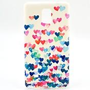 Para Samsung Galaxy Note Diseños Funda Cubierta Trasera Funda Corazón TPU Samsung Note 4