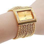개인화 된 패션 여성 시계 팔찌 골드 다이아몬드 케이스 합금 밴드