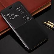 용 아이폰6케이스 / 아이폰6플러스 케이스 스탠드 / 윈도우 / 플립 케이스 풀 바디 케이스 단색 하드 인조 가죽 iPhone 6s Plus/6 Plus / iPhone 6s/6