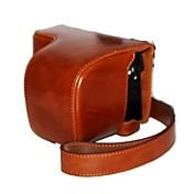 소니 A6000 ILCE-6천리터 a6000l NEX-6를위한 어깨 끈과 dengpin® PU 가죽 오일 피부 카메라 케이스 가방 커버