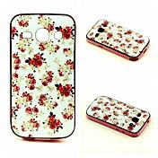 용 삼성 갤럭시 케이스 충격방지 / 패턴 케이스 뒷면 커버 케이스 꽃장식 TPU Samsung Trend 3