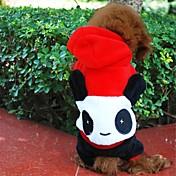 개 코스츔 / 후드 / 의상 블랙 / 화이트 강아지 의류 겨울 동물 코스프레 / 할로윈