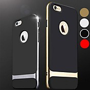 df híbrido delgada armadura dura caso de la contraportada para el iphone 6 más (colores surtidos)