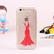 용 아이폰6케이스 / 아이폰6플러스 케이스 투명 / 패턴 케이스 뒷면 커버 케이스 섹시 레이디 소프트 TPU iPhone 6s Plus/6 Plus / iPhone 6s/6
