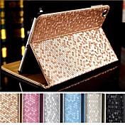 df reposo automático cena de lujo deslizamiento diamante / despierta la PU cuero caso de cuerpo completo para el ipad 2/3/4 (colores