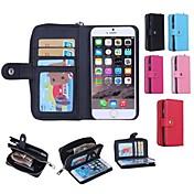 용 아이폰6케이스 / 아이폰6플러스 케이스 지갑 / 카드 홀더 케이스 풀 바디 케이스 단색 하드 PC iPhone 6s Plus/6 Plus / iPhone 6s/6