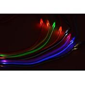 고양이 / 개 가죽끈 방수 / LED 조명 레드 / 화이트 / 그린 / 블루 / 핑크 / 옐로우 / 오렌지 나일론