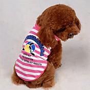 Perros Camiseta Rojo Ropa para Perro Verano Caricaturas / Letra y Número
