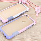 caja del teléfono móvil del marco del cordón para iPhone 6 más