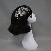 여성 레이스 진주 투구-웨딩 특별한날 머리 빗 꽃