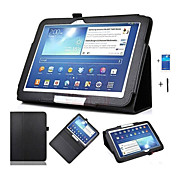 PU Leather Case Cover For Samsung Galaxy Tab 3 10.1 P5200 P5210 P5220 Tablet 10.1 Inch  +Screen Protector + Pen