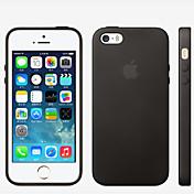 Para iPhone X iPhone 8 iPhone 8 Plus Funda iPhone 5 Carcasa Funda Antigolpes Cubierta Trasera Funda Color sólido Dura Cuero Sintético para