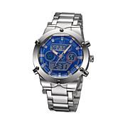 남성 손목 시계 일본 쿼츠 LCD / 달력 / 크로노그래프 / 방수 / 경보 스테인레스 스틸 밴드 블랙 / 실버 상표-