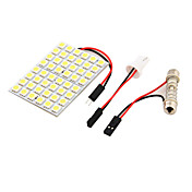 youoklight® 1PCS T10 / 라이트 / 패널 빛을 읽고 백색광 자동차 주도 9w 500lm 48 X SMD5050 꽃줄 - (12V)