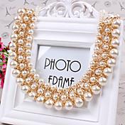 Mujer Gargantillas Perla Perla Artificial Perla Artificial Moda Blanco Joyas Diario Casual 1 pieza