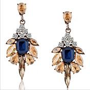 드랍 귀걸이 크리스탈 패션 고급 보석 유럽의 보석 모조 다이아몬드 합금 드롭 스크린 컬러 보석류 용 2pcs