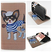 For Samsung Galaxy Case Wallet / Card Holder / with Stand / Flip Case Full Body Case Dog PU Leather SamsungCore Prime / Core Plus / Core