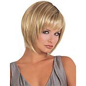Mujer Pelucas sintéticas Sin Tapa Corto Largo Liso Corte Bob Con flequillo Peluca natural Las pelucas del traje