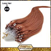 """20 """"컬러 # 30 많은 색상 availale 100S 마이크로 루프 레미 인간의 머리 확장"""