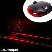 Luces para bicicleta Luz Trasera para Bicicleta LED Laser Ciclismo A Prueba de Agua Resistente a Golpes Batería de Litio Con Lumens