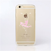 For iPhone 5 Case Case Cover Transparent Pattern Back Cover Case Sexy Lady Soft TPU for iPhone 7 Plus iPhone 7 iPhone SE/5s iPhone 5