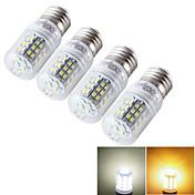 7W E14 / E26/E27 Bombillas LED de Mazorca T 48 SMD 2835 600 lm Blanco Cálido / Blanco Fresco Decorativa AC 85-265 / 09.30 V 4 piezas