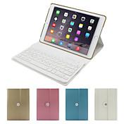 Para Carcasa Funda con Soporte con Teclado Flip Rotación 360º Cuerpo Entero Funda Color sólido Dura Cuero Sintético para iPad Air