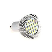 8w의 GU10 16xsmd5630 650lm 따뜻한 / 차가운 백색 빛이 빛 스포트 라이트 전구를 주도 (AC85-265V)