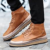 사무실 & 커리어 캐쥬얼 운동 Work & Safety-남성-컴포트 노블티 패션 부츠 롤러 스케이트 신발-레더렛-플랫-블랙 브라운 그레이