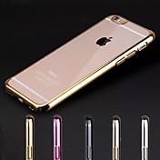 Para iPhone X iPhone 8 iPhone 7 iPhone 7 Plus iPhone 6 iPhone 6 Plus Carcasa Funda Cromado Transparente Cubierta Trasera Funda Color