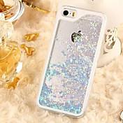 용 아이폰5케이스 플로잉 리퀴드 / 투명 케이스 뒷면 커버 케이스 글리터 샤인 하드 PC iPhone SE/5s/5