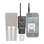 XLR Microphone Preamplifier Audio Adapter with Phantom Power for Apple iPad iPhone 4 5 6 Plus Android Smartphone