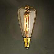 E14 40w ST48 노란색 전구 에디슨 작은 스크류 캡 복고풍 샹들리에 장식 전구