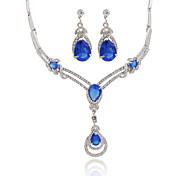 Cristal Moda Joyería de Lujo Zirconio La imitación de diamante Legierung Collares Pendientes Para Boda Fiesta Diario Casual 1 SetRegalos