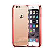 Para Funda iPhone 6 / Funda iPhone 6 Plus Cromado / Ultrafina Funda Cubierta Trasera Funda Un Color Dura MetaliPhone 6s Plus/6 Plus /