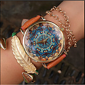 Paisley Watch, Vintage Style Leather Watch, Women Watches Fashion Boyfriend Watch Gift Boteh Hippie Revolution Cool Watches Unique Watches Strap Watch