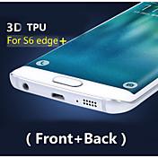 Cobertura completa en 3D de alta definición del tpu prevenir protector de pantalla de cero para el borde samsung galaxy s6 más (front +