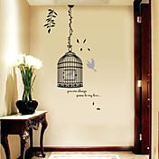 크리스마스 / 플로럴 / 휴일 / 풍경 벽 스티커 3D 월 스티커 , pvc 50x70x0.1cm