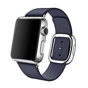 Reloj de la venda para el reloj de la manzana hebilla moderna correa de la venda del reemplazo del cuero genuino tamaño m