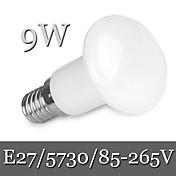 9W E26/E27 LED 글로브 전구 R63 30LED SMD 5730 900 lm 따뜻한 화이트 / 차가운 화이트 밝기 조절 / 장식 AC 85-265 V 1개