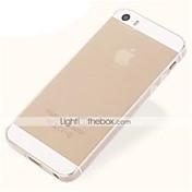 Para Funda iPhone 5 Ultrafina / Transparente Funda Cubierta Trasera Funda Un Color Suave TPU iPhone SE/5s/5