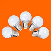 E26/E27 Bombillas LED de Globo G60 9 SMD 2835 220 lm Blanco Cálido Blanco Fresco AC 100-240 V 5 piezas