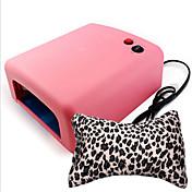 Ultravioleta 36w máquina de la terapia de luz de la lámpara del clavo + almohada mano del arte 1nail (color al azar)